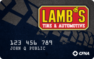Financing available through Lamb's Tire CFNA credit card